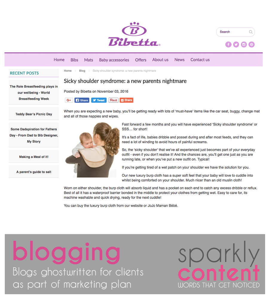 Example of blogging