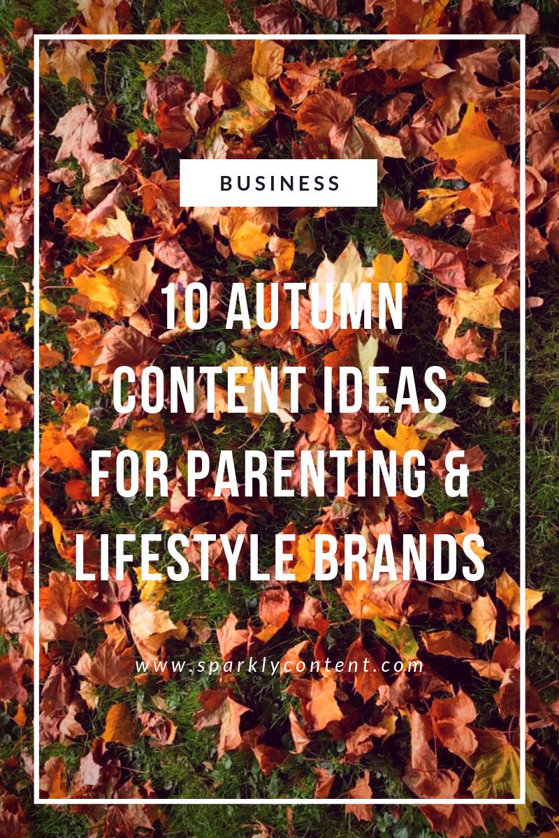 autumn content ideas