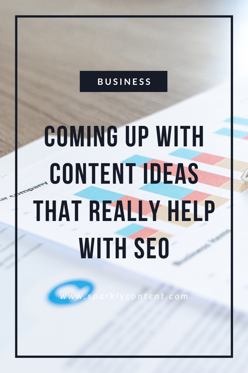 coming up with content ideas for SEO